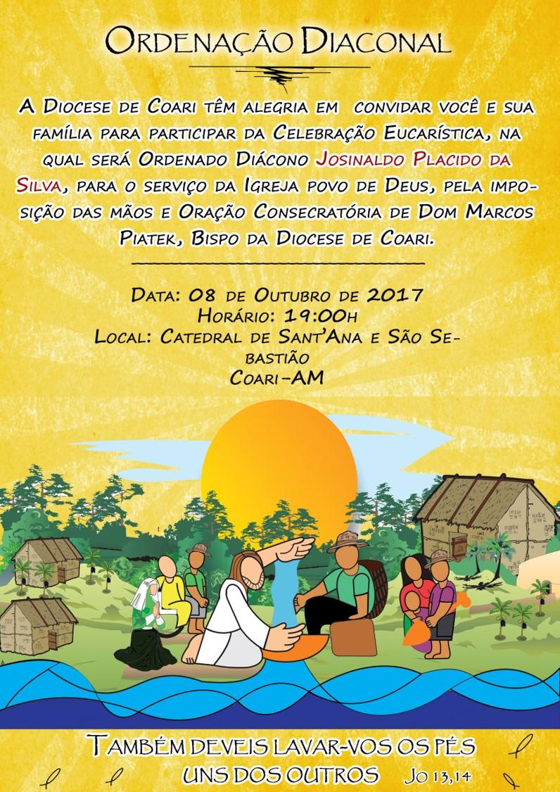 Convite Ordenação Diaconal Josinaldo Plácido